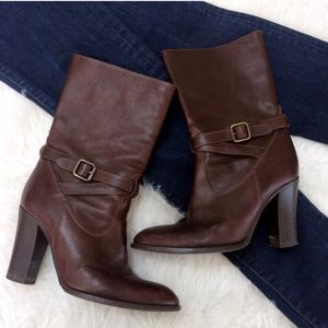 J. Crew Italian Leather Mid-Calf Boots